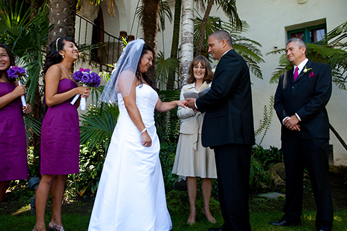 the nichols santa barbara courthouse wedding