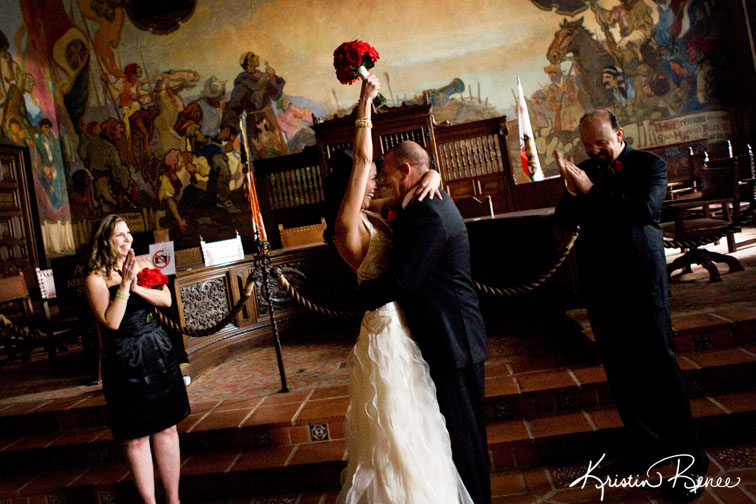 A Perfect Valentine S Day Wedding At The Santa Barbara Courthouse